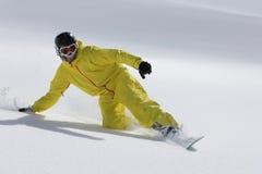 Freerider Snowboard Arkivfoto