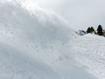 Freerider snowboarder in snow powder Royalty Free Stock Images