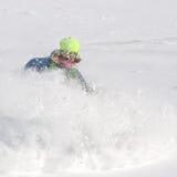 Freerider in una polvere della neve Immagine Stock Libera da Diritti