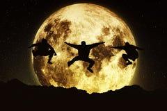 Freeruners de lune Photographie stock libre de droits