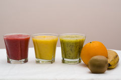 Freesh smoothie drinks Stock Images