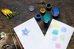 Freesia красит изображение Стоковое Изображение RF
