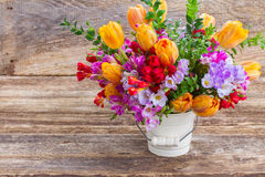 Freesia and  flowers Royalty Free Stock Image