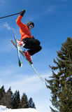 Freeskier in a jump Stock Image