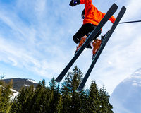 Freeskier in a jump Royalty Free Stock Photos