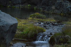 FreeSpring. A natural, spring in iceland. Clear water and calmness Royalty Free Stock Photography