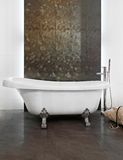 Freestanding bathtub. VIntage style slipper bathtub in luxurious bathroom Stock Photography
