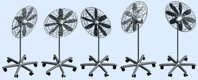 Freestanding Cooling Fan Stock Image