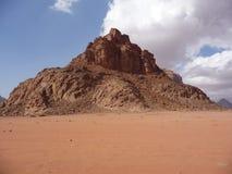 Freestanding desert mountain in Wadi Rum, Jordan, Middle East Stock Photography