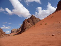 Freestanding desert mountain in Wadi Rum, Jordan, Middle East Stock Photo