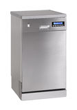 Freestanding INOX dishwasher Royalty Free Stock Image