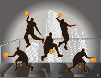 Freestlye basket ball Royalty Free Stock Photos