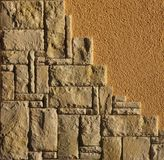 Freestone Wall And Plaster Stock Photography