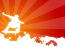 Freestyle. Wallpaper illustration with a silhouette of a boy making some movement stock illustration