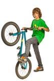 Freestyle biker teeneager Royalty Free Stock Photos