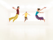 Freestyle colorful people studio Stock Images