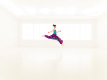 Freestyle colorful people studio Royalty Free Stock Photography