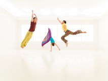 Freestyle colorful people studio Royalty Free Stock Photos