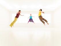 Freestyle colorful people studio Stock Photography