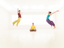 Freestyle colorful people studio Royalty Free Stock Image