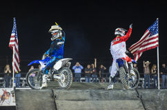 Freestyle cowboys motocross Royalty Free Stock Photography