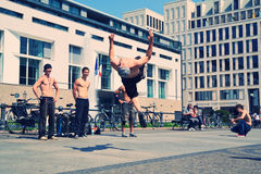 Freestyle dancers in Pariser Platz Stock Photos