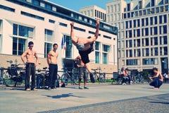 Freestyle dancers in Pariser Platz Stock Photos