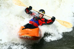 Freestyle Excitement. Freestyle Kayaking during the Teva Mountain Games, where international athletes compete during three days of extreme action sports in Vail Stock Images