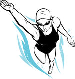 Freestyle Female Swimmer Stock Images