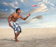 Freestyle Flying Disc Sports Player Stock Images