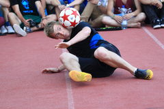 Freestyle football - Andrew Henderson Stock Images