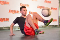 Freestyle football Stock Images