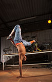 Freestyle hip-hop dancer Royalty Free Stock Image