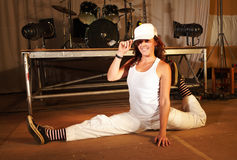 Freestyle hip-hop dancer Royalty Free Stock Photography