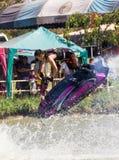 Freestyle the Jet Ski stunt action Stock Photo
