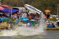 Freestyle the Jet Ski stunt action Royalty Free Stock Image