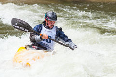 Freestyle Kayaker Stock Images