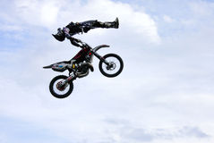 Freestyle Motocross 2009. The spectacular jumps of the daredevils bikers of freestyle Stock Image
