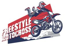 Freestyle motocross design. Vector of freestyle motocross design Royalty Free Stock Photography