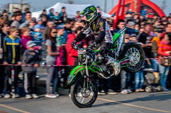 Freestyle motocross - Petr Kuchar Stock Images