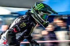 Freestyle motocross - Petr Kuchar Stock Photo