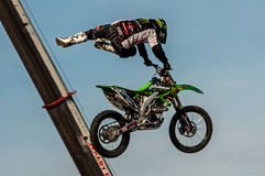 Freestyle motocross - Petr Kuchar Royalty Free Stock Images