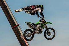 Freestyle motocross - Petr Kuchar Royalty Free Stock Images