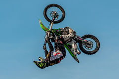 Freestyle motocross - Petr Kuchar Royalty Free Stock Photo