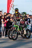 Freestyle motocross - Petr Kuchar Royalty Free Stock Photo