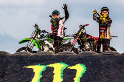 Freestyle motocross - Petr Kuchar Stock Images