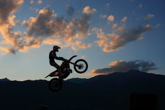 Freestyle motocross show Royalty Free Stock Photography