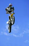 Freestyle Motorcycle Jumping Stock Photo