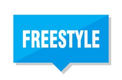 Freestyle price tag. Freestyle blue square price tag Royalty Free Stock Photos