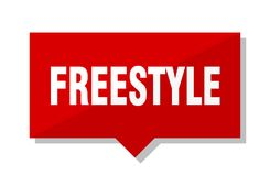 Freestyle red tag. Freestyle red square price tag Royalty Free Stock Photos